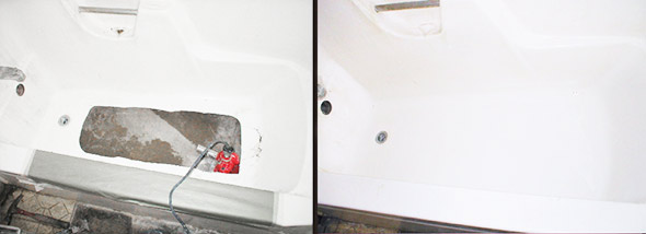 Fiber Glass Tub Bottom Repair