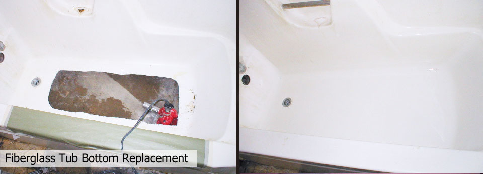 Bathtub Repair - Replace Bathtub Bottom